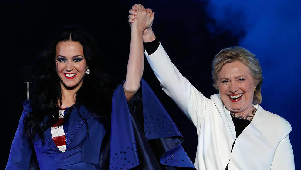 Katy Perry und Hillary Clinton (2016)