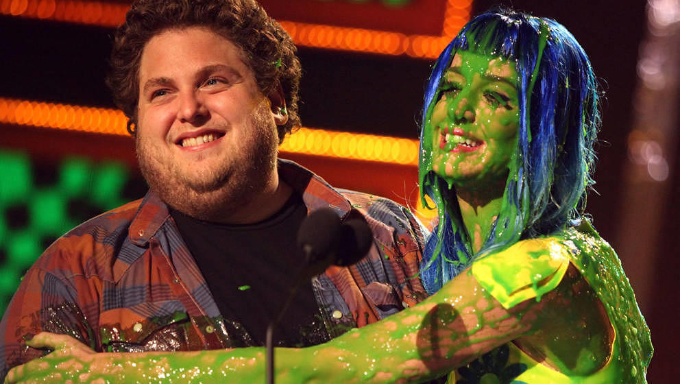 "Katy Perry mit Jonah Hill bei den ""Nickelodeon Kid's Choice Awards"" im Jahr 2010"