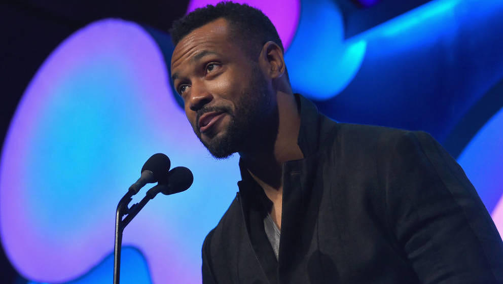 NEW YORK, NY - MAY 14:  Isaiah Mustafa onstage at The 22nd Annual Webby Awards at Cipriani Wall Street on May 14, 2018 in New