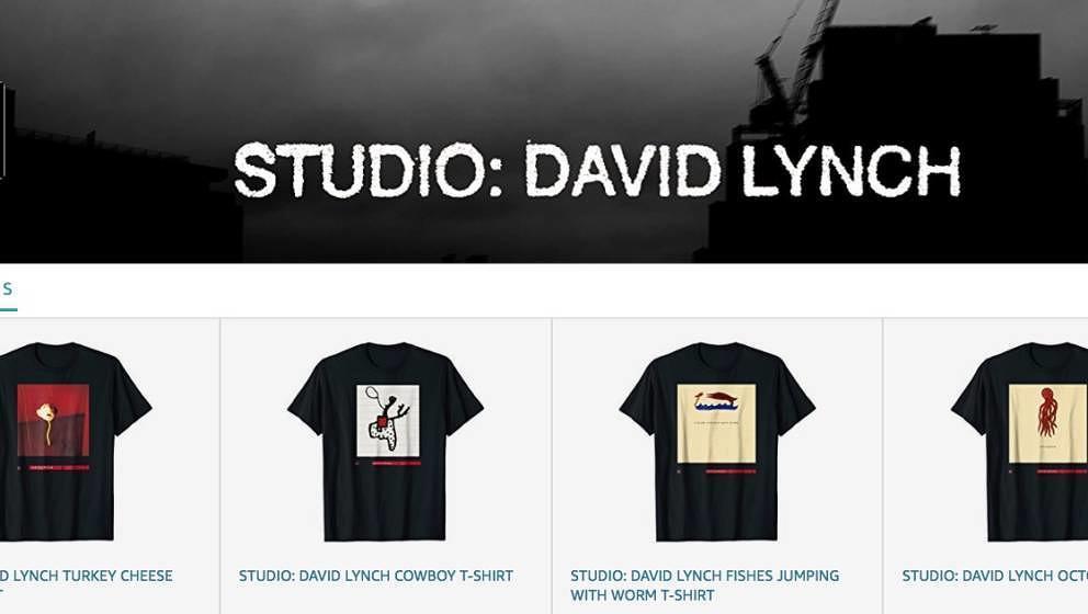 """Unter dem Label """"Studio: David Lynch"""" verkauft der Regiemeister Shirts."""