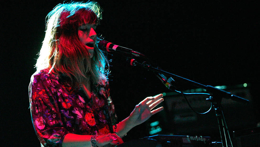 NEW YORK, NY - OCTOBER 05:  Melody Prochet of Melody's Echo Chamber performs at Webster Hall on October 5, 2012 in New York C