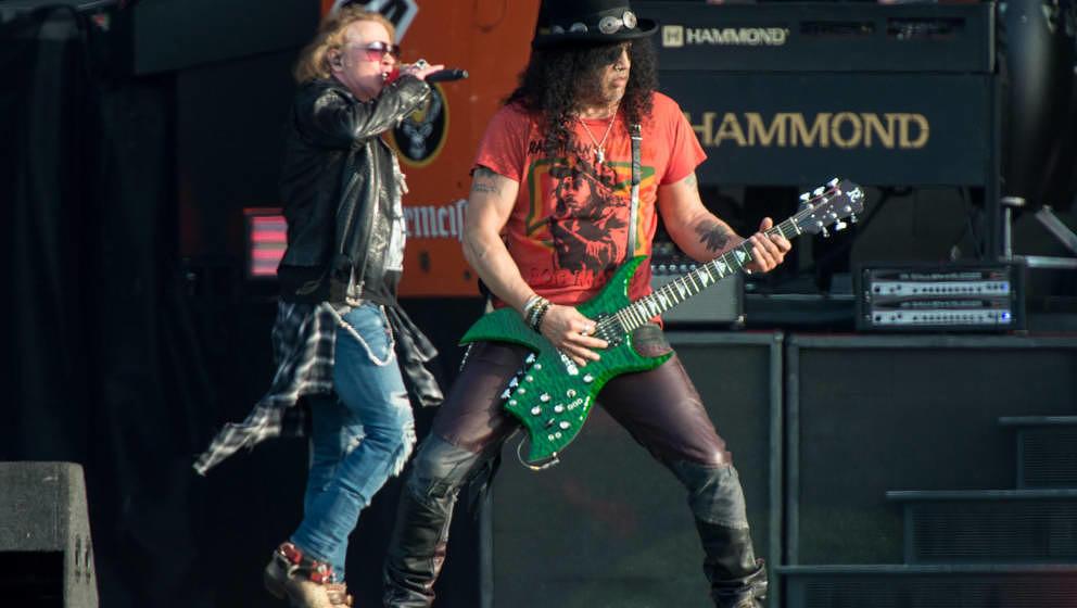 Axl Rose und Slash, hier live beim Download Festival am 9. Juni 2018 in England