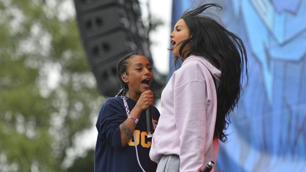 """SXTN gemeinsam auf dem """"Hurricane""""-Festival 2018."""