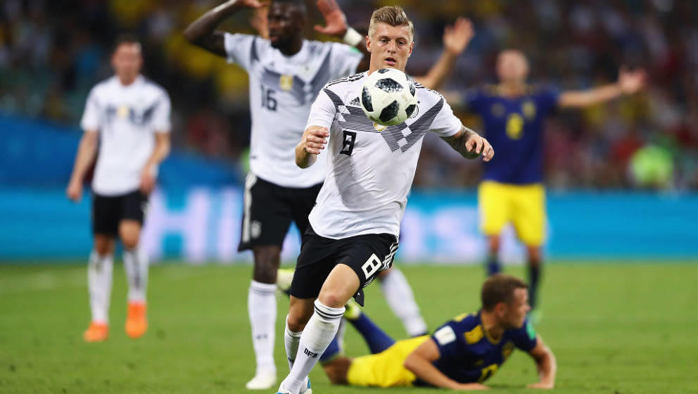 during the 2018 FIFA World Cup Russia group F match between Germany and Sweden at Fisht Stadium on June 23, 2018 in Sochi, Ru