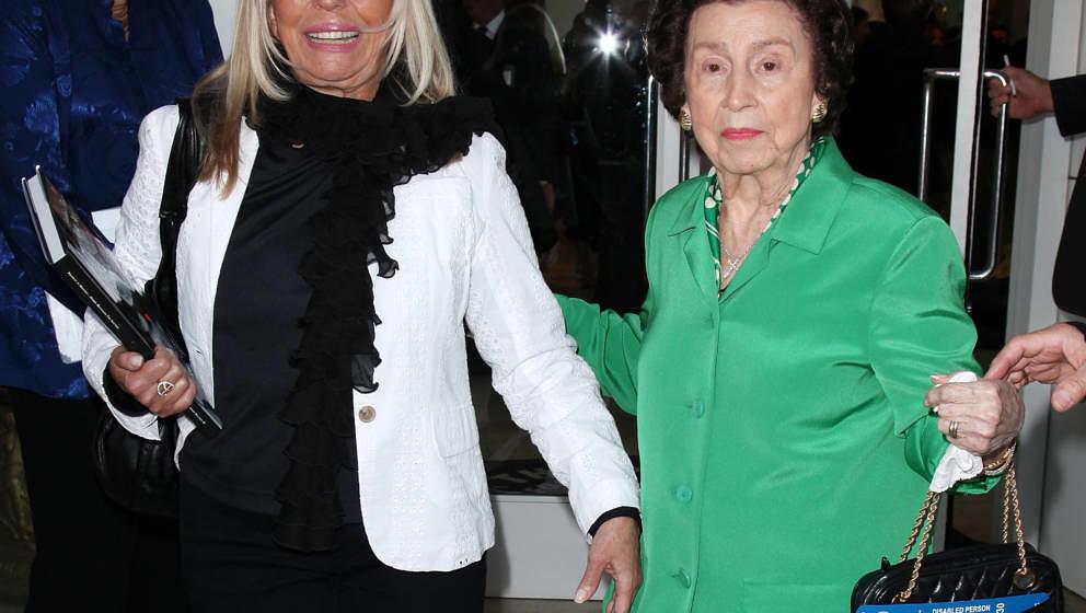 Nancy Sinatra (L)  and mother Nancy Sinatra Sr. attend Paley Center & TCM present Debbie Reynolds' Hollywood memorabilia