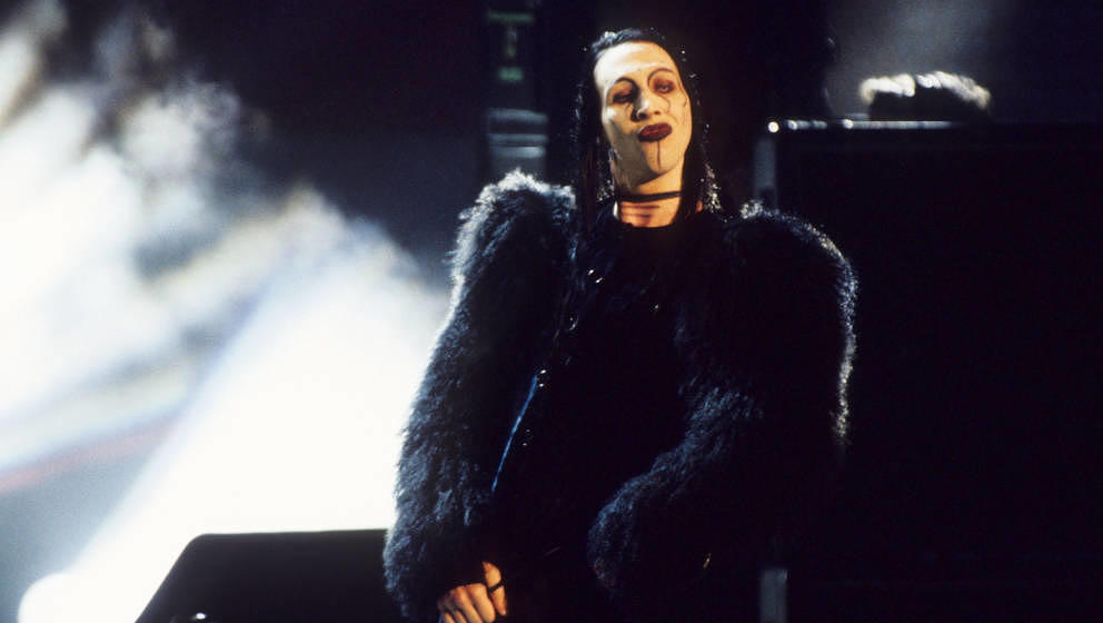 Marilyn Manson during 1997 MTV Video Music Awards at Radio City Music Hall in New York City, New York, United States. (Photo