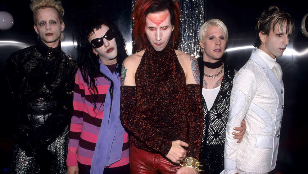 Madonna Wayne Gacy, Twiggy Ramirez, Marilyn Manson, John 5 and Ginger Fish (Photo by Kevin Mazur Archive/WireImage)