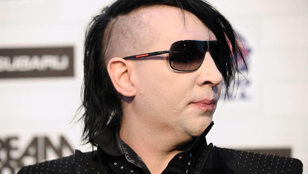 Marilyn Manson attends Spike TV's 'Scream 2010' at The Greek Theatre on October 16, 2010 in Los Angeles, California.