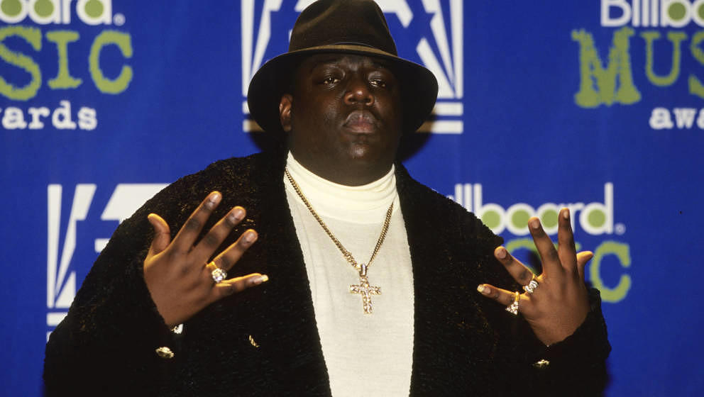NEW YORK:  Christopher 'Notorious B.I.G.' Wallace attends the 1995 Billboard Music Awards in New York City, 6th December 1995