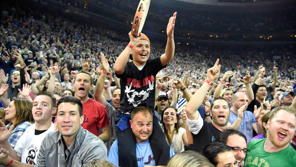 Ganz normale Pearl-Jam-Fans: Publikumsfoto aus Philadelphia 2016