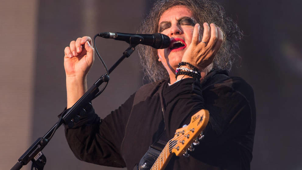 LONDON, ENGLAND - JULY 07: Robert Smith of The Cure performs live at  Barclaycard present British Summer Time Hyde Park at Hy