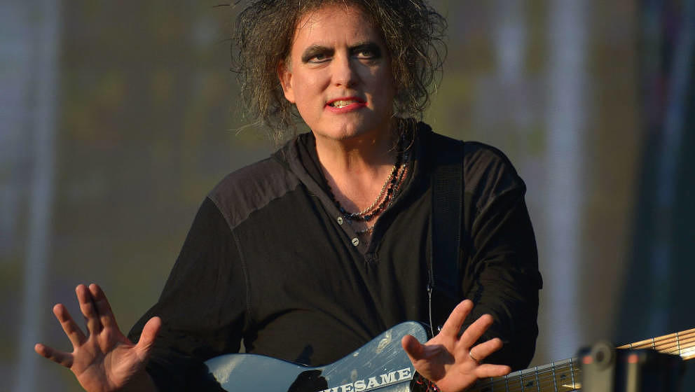 LONDON, ENGLAND - JULY 07:  Robert Smith of The Cure performs live on stage during British Summer Time at Hyde Park on July 7