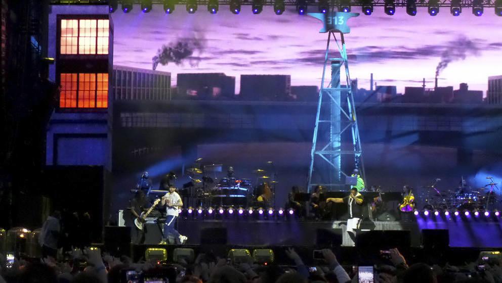 Eminem live bei einem Konzert seine 'Revival'-Tour auf dem Messegelände. Hannover, 10.07.2018   Verwendung weltweit