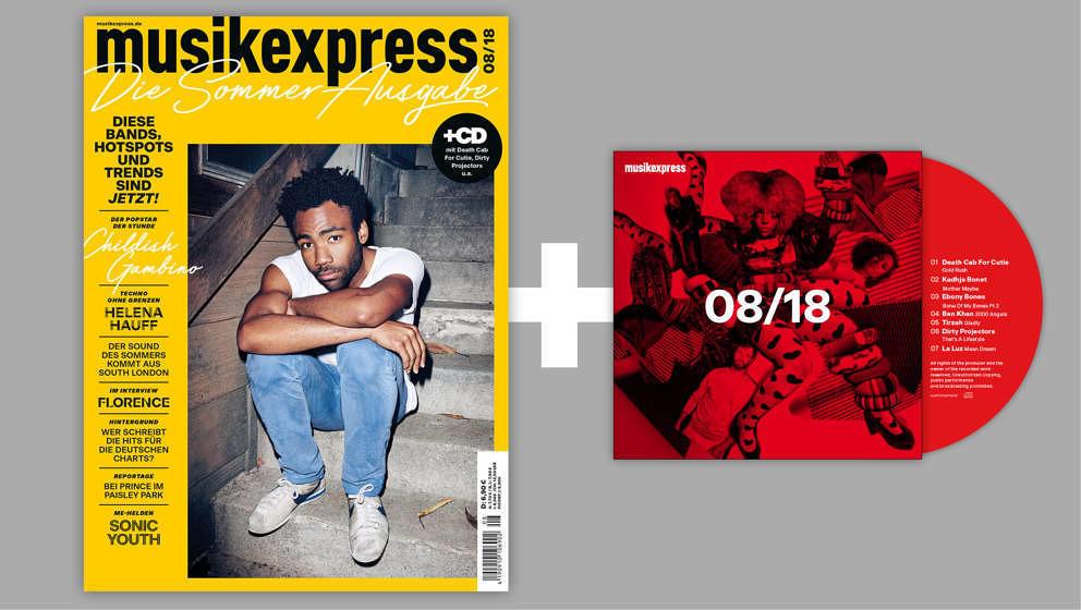 Mit CD, Childish Gambino und haufenweise Sommertipps: So sieht er aus, der Musikexpress 08/2018