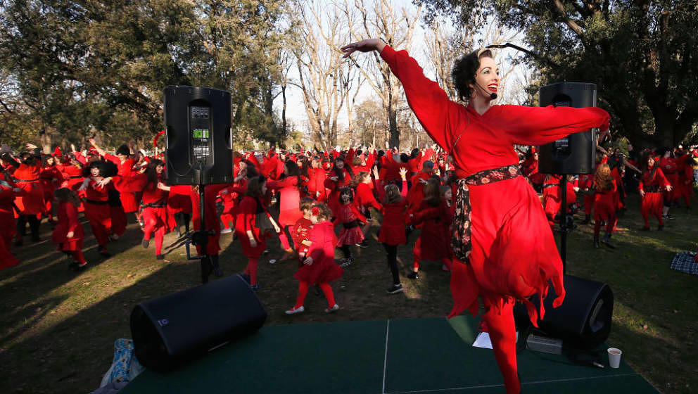 MELBOURNE, AUSTRALIA - JULY 14:  People take part in The Most Wuthering Heights Day on July 14, 2018 in Melbourne, Australia.
