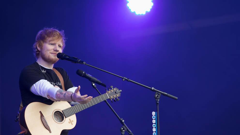Superstar Ed Sheeran, hier am 26. Mai 2018 in Wales