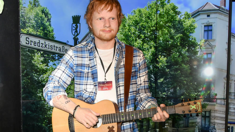 BERLIN, GERMANY - JULY 18: Ed Sheeran wax figure is unveiled at Madame Tussauds on July 18, 2018 in Berlin, Germany. (Photo b
