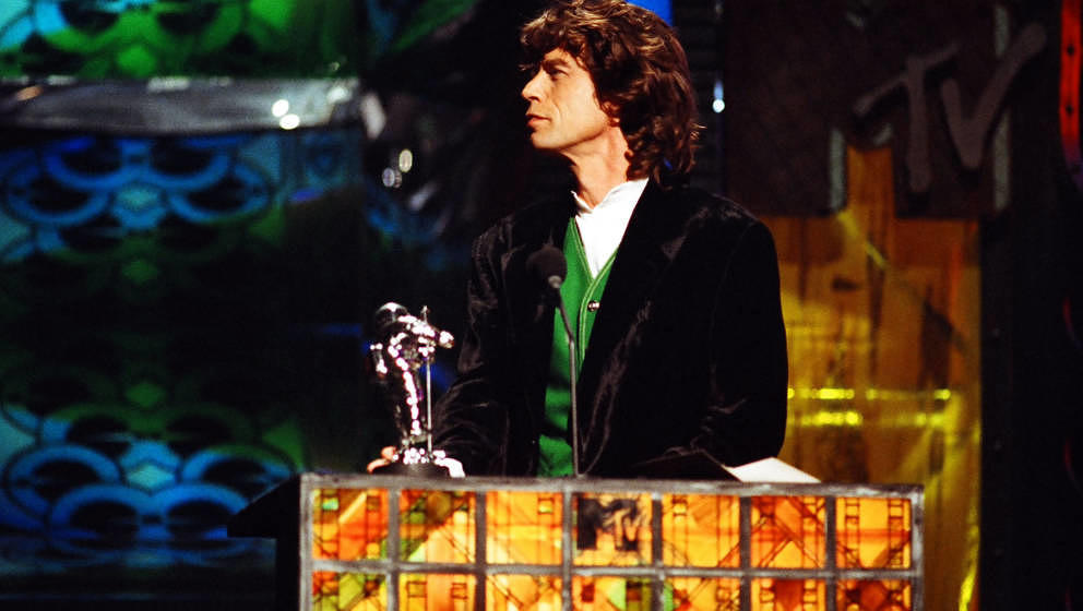 Mick Jagger during 1992 MTV Video Music Awards in Los Angeles, California, United States. (Photo by Jeff Kravitz/FilmMagic, I