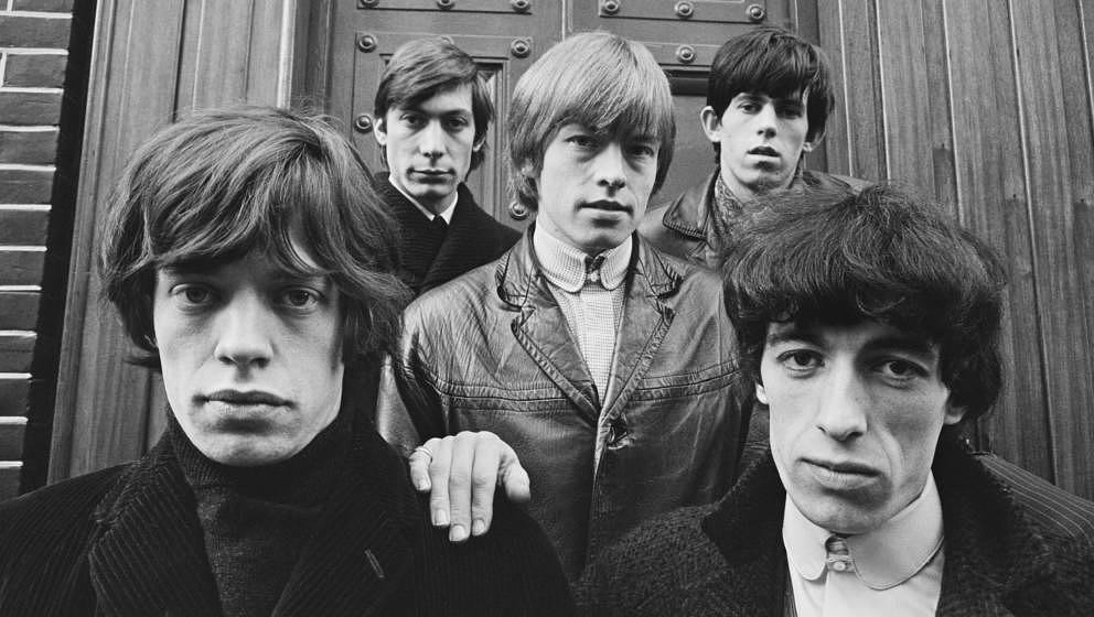 The Rolling Stones in London, 1963: Mick Jagger, Charlie Watts, Brian Jones, Keith Richards und Bill Wyman