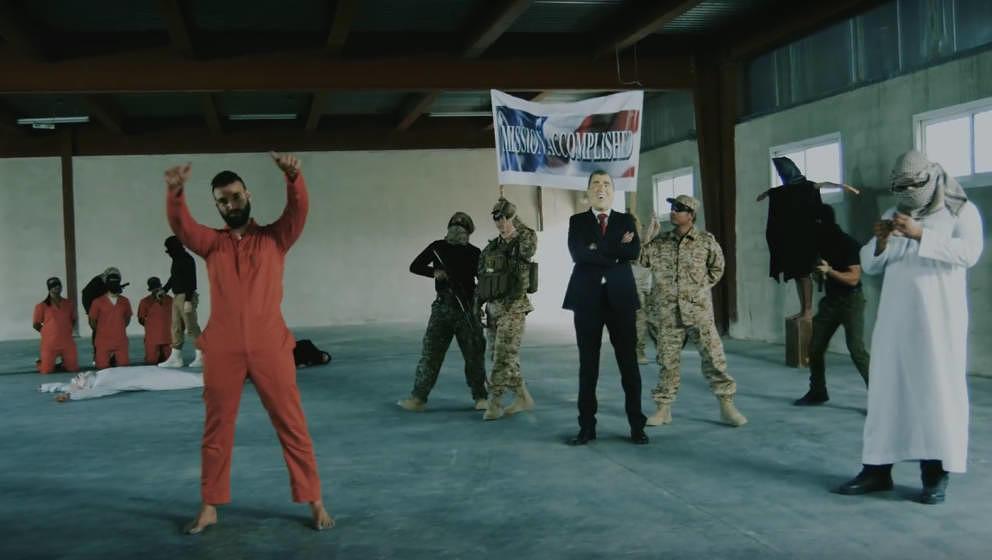 """Das Video wurde im """"Abu Ghraib""""-Gefängnis gedreht, in dem Iraker gefoltert wurden"""