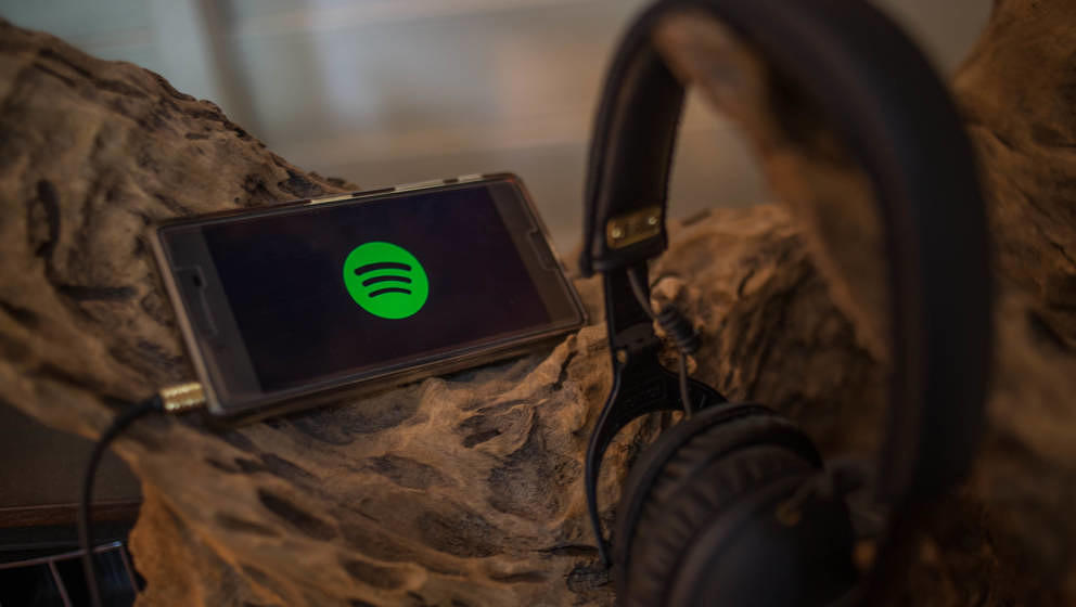 BANGKOK, THAILAND - 2018/07/06: The Spotify application seen displayed on a Sony smartphone. (Photo by Guillaume Payen/SOPA I