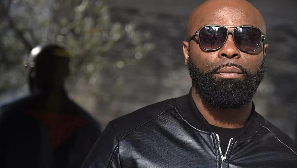 TO GO WITH STORY BY ANTHONY LUCAS  French singer Kaaris poses in Paris on March 25, 2015. AFP PHOTO / DOMINIQUE FAGET
