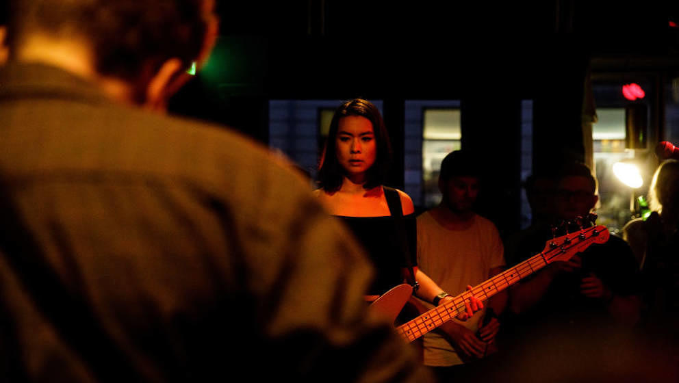 The American-Japanese singer, songwriter and musician Mitski performs a live concert at Ideal Bar in Copenhagen. Denmark, 15/