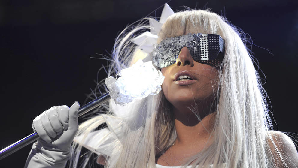NEW YORK - DECEMBER 12:  Lady GaGa performs on stage during Z100's Jingle Ball 2008 Presented by H&M at Madison Square Ga