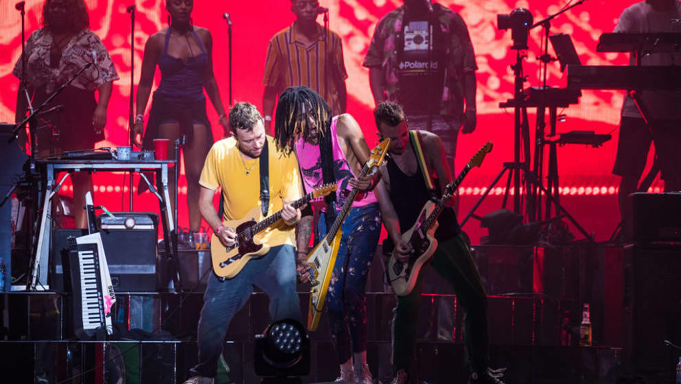 BUDAPEST, HUNGARY - AUGUST 09:  Damon Albarn of Gorillaz performs on stage on day 2 of Sziget Festival 2018 on August 9, 2018