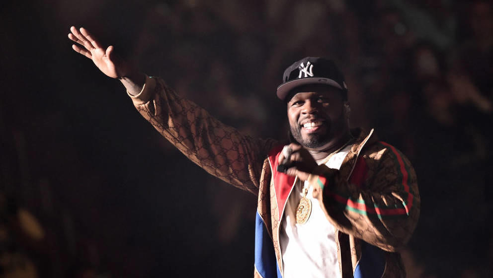 NEW YORK, NY - JUNE 08:  50 Cent performs live on stage at Madison Square Garden during Wisin y Yandel in Concert on June 8,