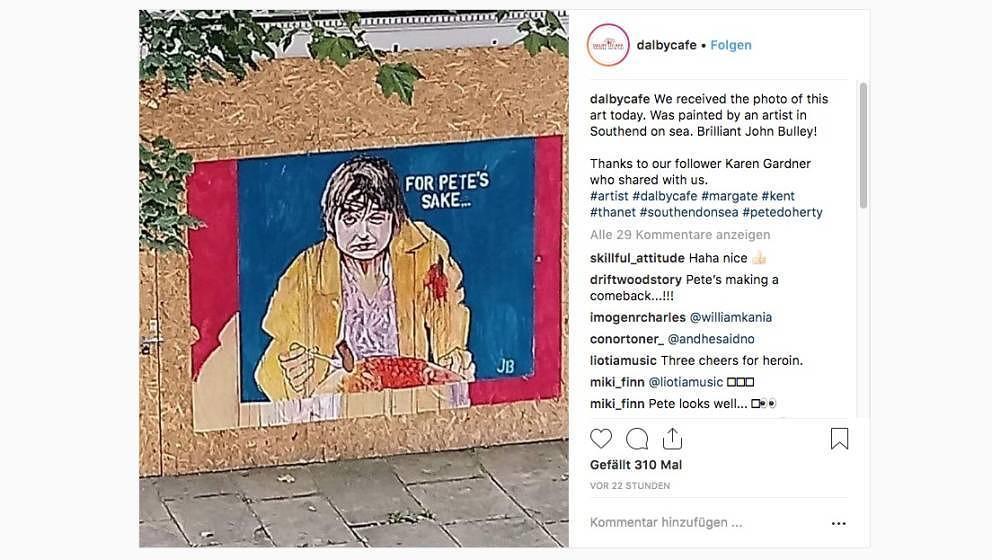 Starallüren gingen anders: Pete Doherty stellt einen Frühstücksrekord auf – auch die ersten Street Artists zeigen sich begeistert davon.