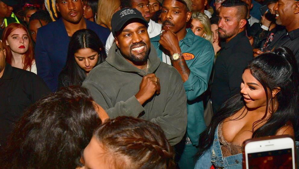 Kanye West mit Lil Kim bei der Album-Release-Party von Teyana Taylor am 21. Juni 2018