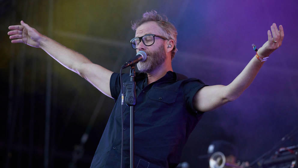 BERLIN, GERMANY - SEPTEMBER 08: Matt Berninger of The National performs live on stage during the first day of the Lollapalooz