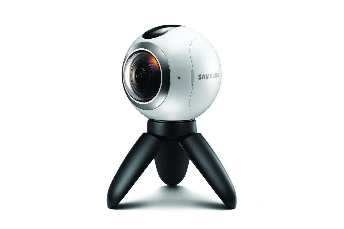 Die Samsung Gear 360 nimmt 360-Grad-Videos in einer Qualität vonbis zu 3840 x 1920 Pixel auf.