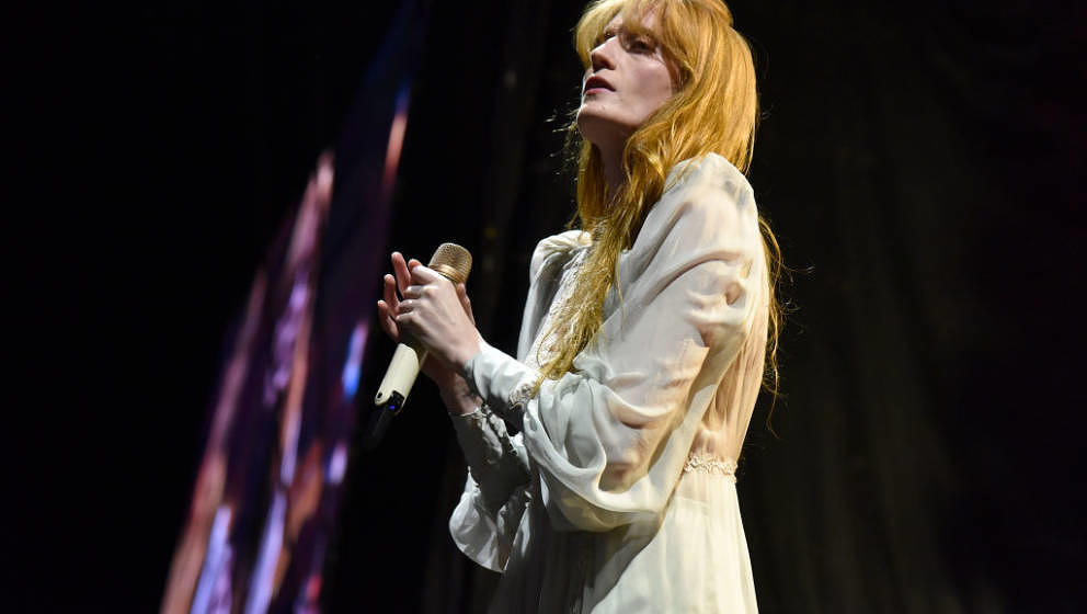 DENVER, CO - SEPTEMBER 15:  Florence Welch of Florence + the Machine performs during the 2018 Grandoozy Festival at Overland