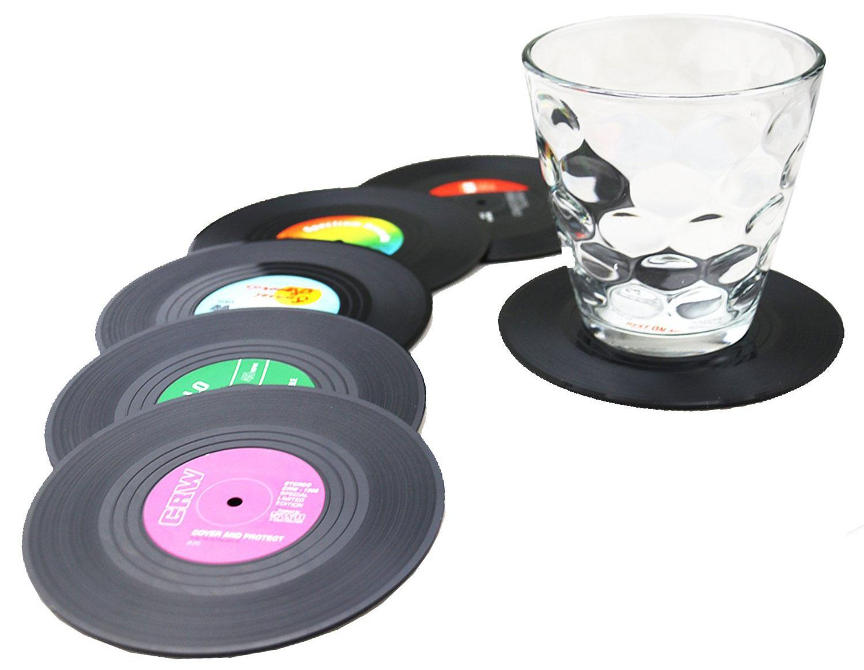 Vinyl-Untersetzer für Gläser und Tassen