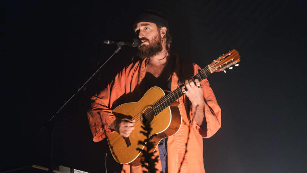 BERLIN, GERMANY - FEBRUARY 12: Singer-songwriter Ry Cuming aka RY X performs live on stage during a concert at Tempodrom on F