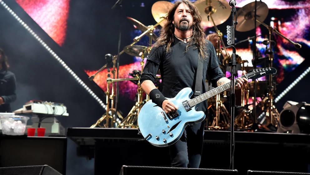 "Dave Grohl, hier am 6. Oktober 2018 beim ""Cal Jam""-Festival der Foo Fighters"