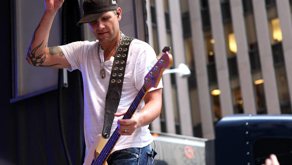 NEW YORK, NY - AUGUST 10:  Todd Harrell of 3 Doors Down performs during 'FOX & Friends' All American Concert Series at FO