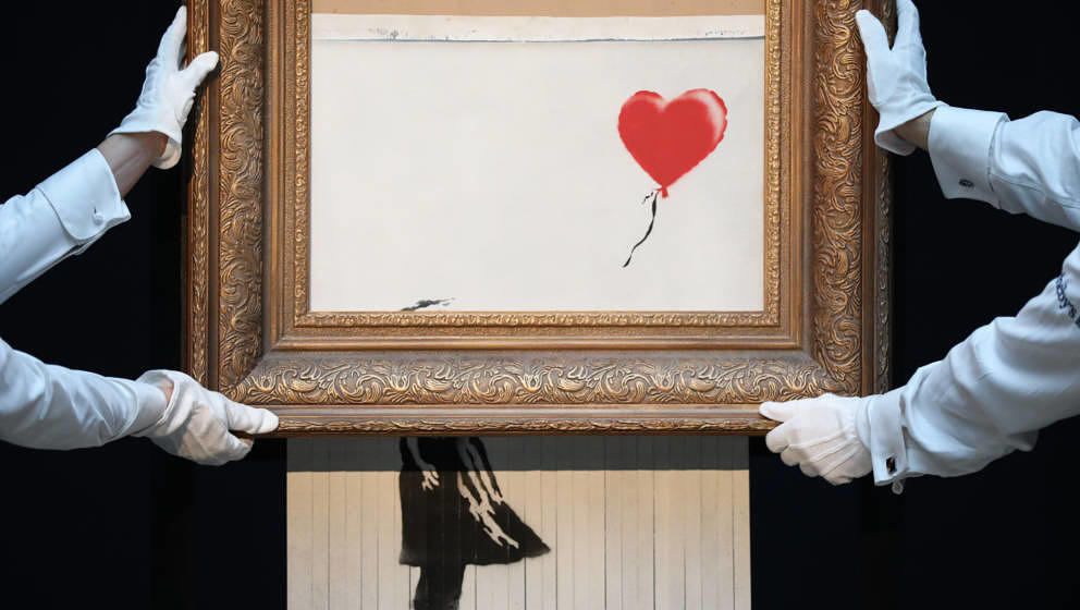 "Banksy ""Girl With Balloon"" Sotheby's"