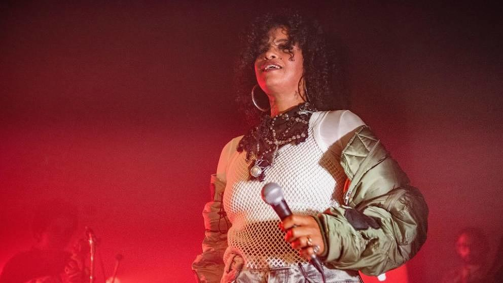 LONDON, ENGLAND - SEPTEMBER 12:  Neneh Cherry performs live on stage at Village Underground on September 12, 2018 in London,