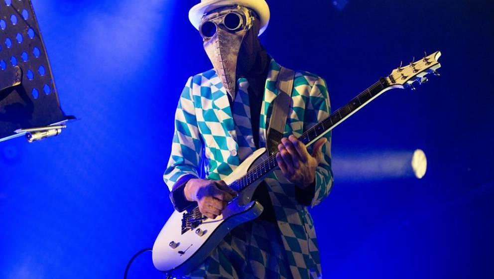 Norway, Oslo - November 12, 2017. The American art collective and avant-garde band The Residents performs a live concert at R