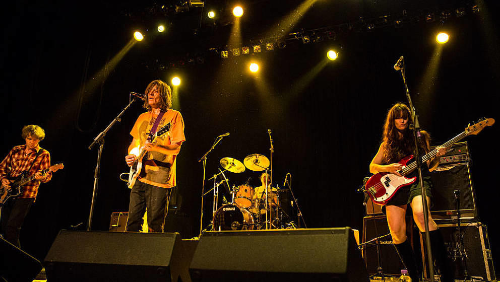 LONDON, ENGLAND - OCTOBER 08:  Chris Brokaw, Evan Dando and Jen Turner of The Lemonheads perform at Indigo2 at The O2 Arena o