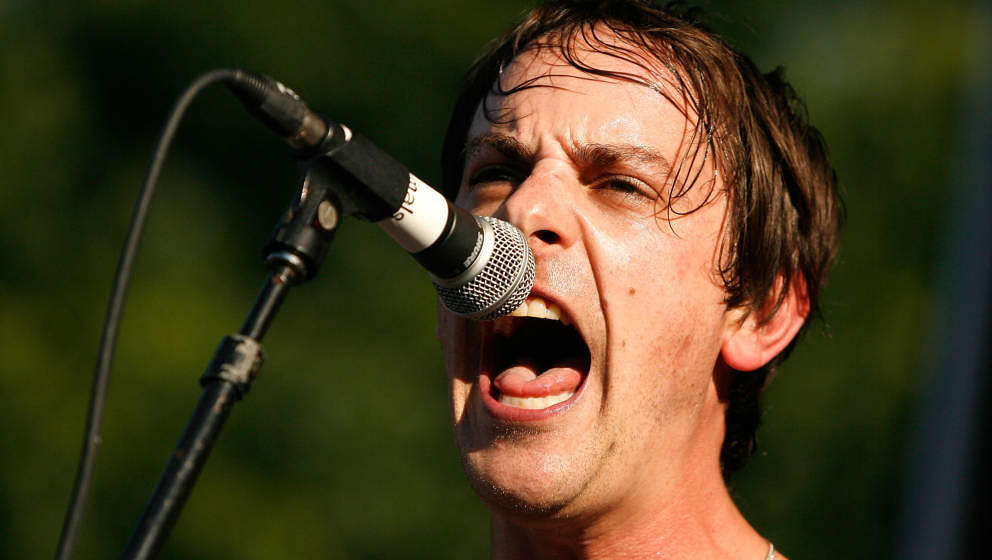 NEW YORK, NY - JUNE 15: Musician Hutch Harris of the Thermals performs during Northside Festival 2012 Day 2 on June 15, 2012