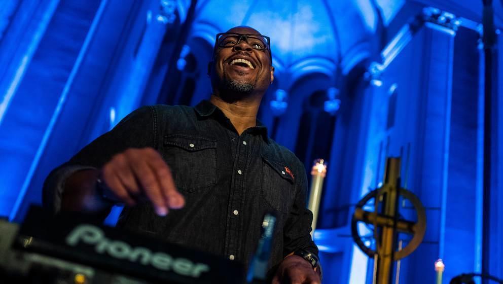 Der Produzent, DJ und Pastor Robert Hood in der St.-Thomas-Kirche in Berlin am 9. November 2018