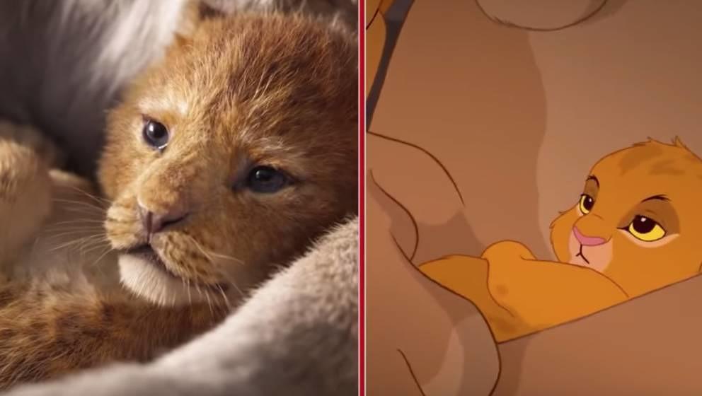 2018 vs 1994: Simba sieht in beiden Fällen niedlich aus.