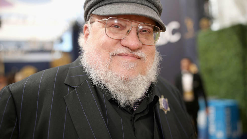 LOS ANGELES, CA - SEPTEMBER 17:  70th ANNUAL PRIMETIME EMMY AWARDS -- Pictured: Writer George R. R. Martin arrives to the 70t