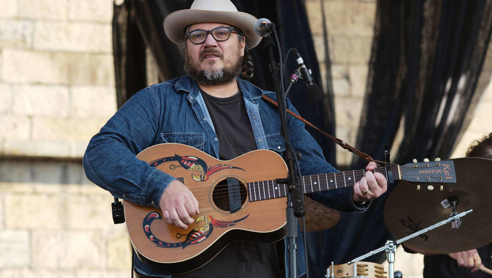 NEWPORT, RI - JULY 29:  Jeff Tweedy of Wilco performs during the 2017 Newport Folk Festival at Fort Adams State Park on July