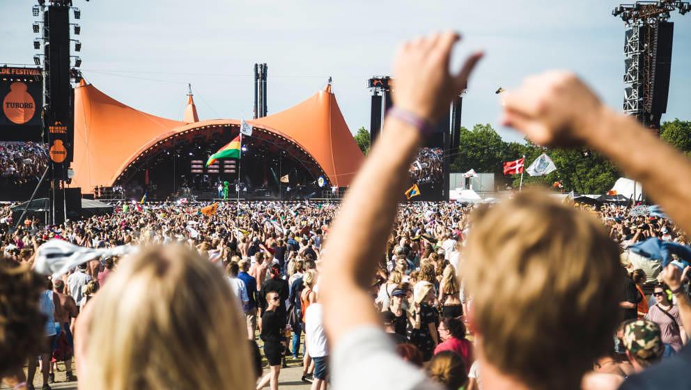 Das Festivalgelände des Roskilde Festivals