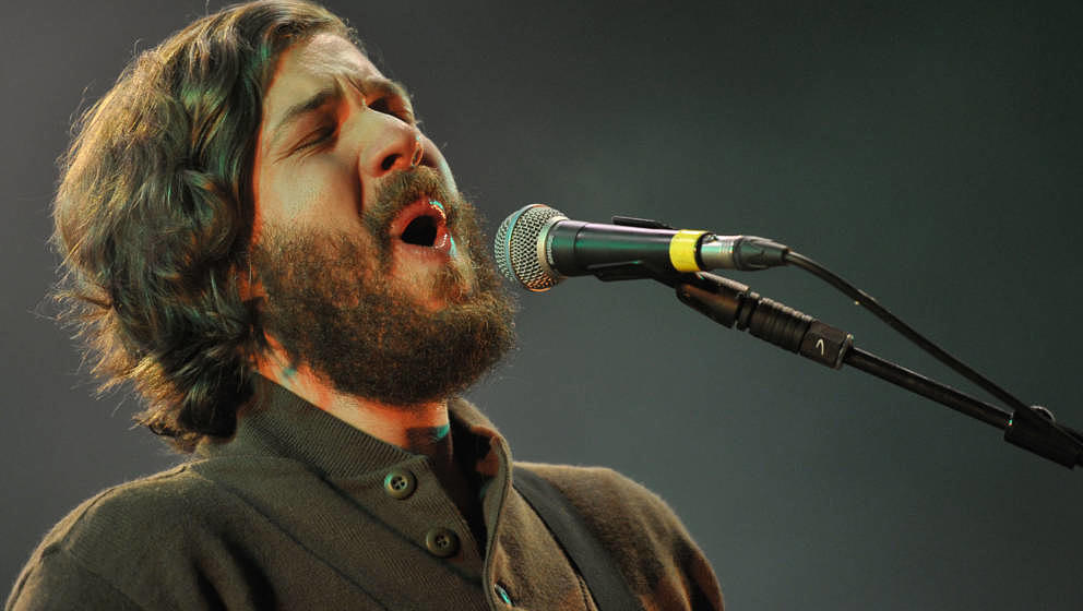 SALISBURY, ENGLAND - AUGUST 31:  Eric Pulido of the band Midlake performs on stage during End Of The Road Festival 2012 at La